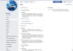 Ford Facebook Profile