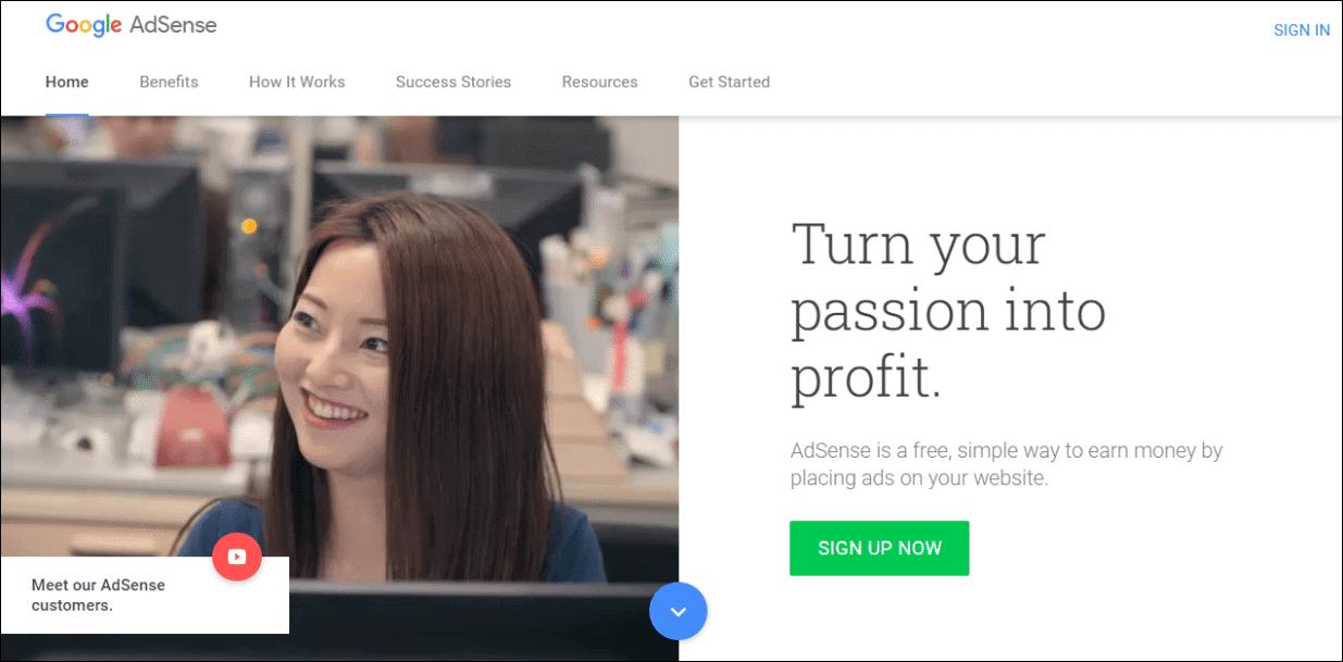 AdSense create account