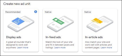 Adsense ads set up