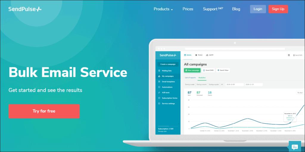 Sendpulse email marketing software min - %title%- The Blue Oceans Group