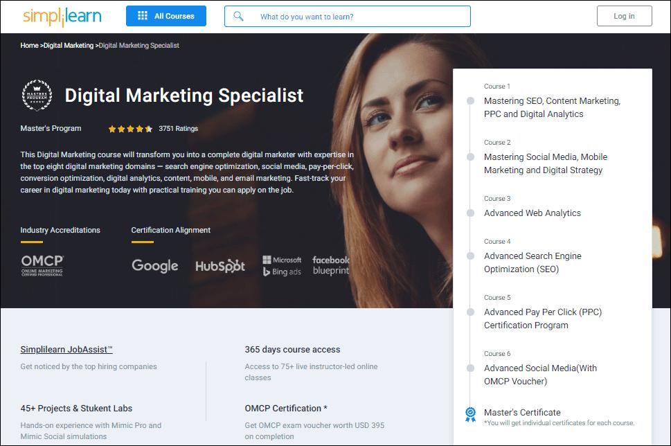 Simplilearn digital marketing course - %title%- The Blue Oceans Group
