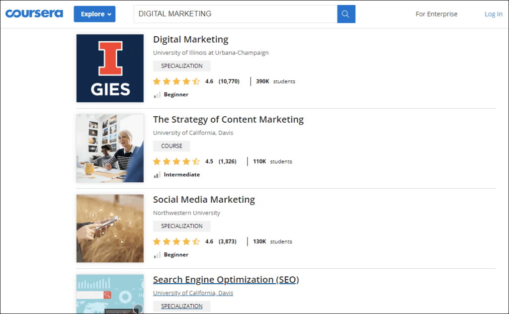 coursera digital marketing course - %title%- The Blue Oceans Group