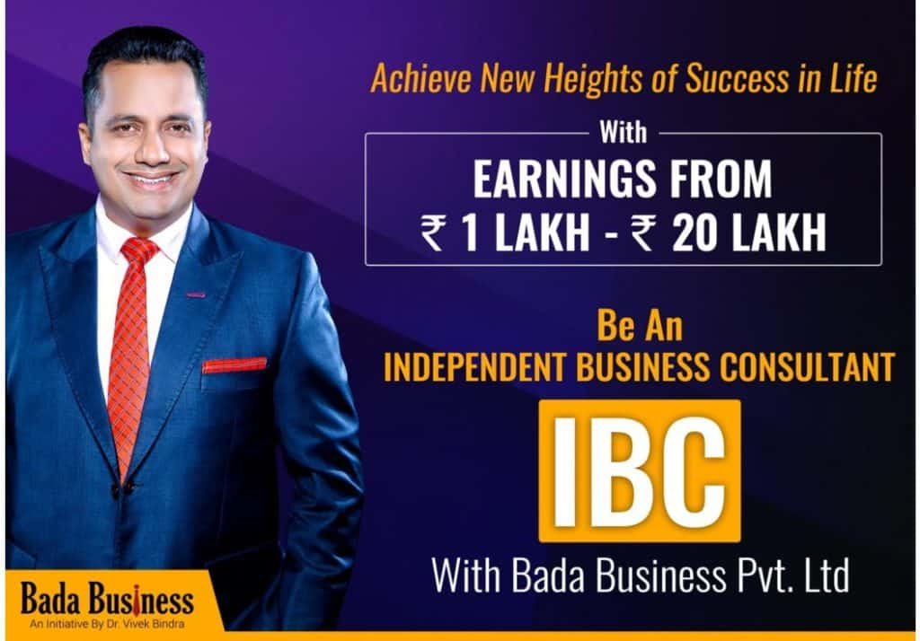 What is IBC Bada Business by Dr. Vivek Bindra and How You Earn Rs1 lakh to 20 Lakhs Every Month?