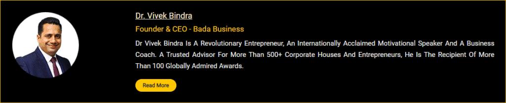 Dr Vivek Bindra - %title%- The Blue Oceans Group
