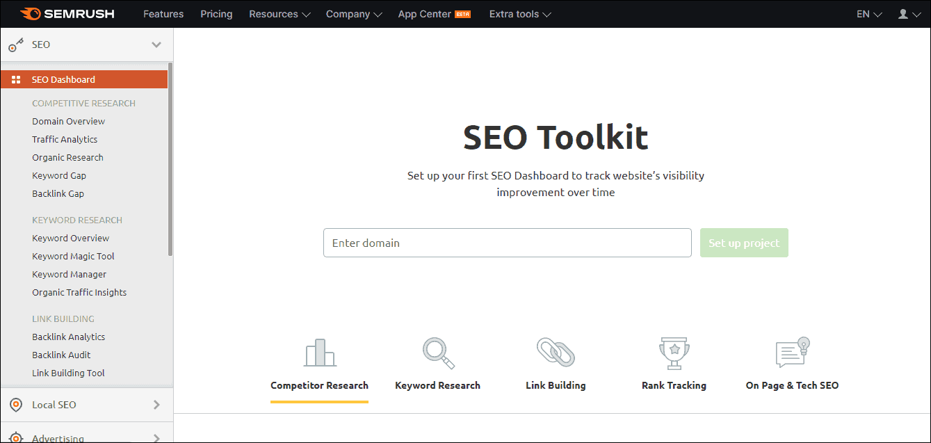 Semrush SEO Toolkit