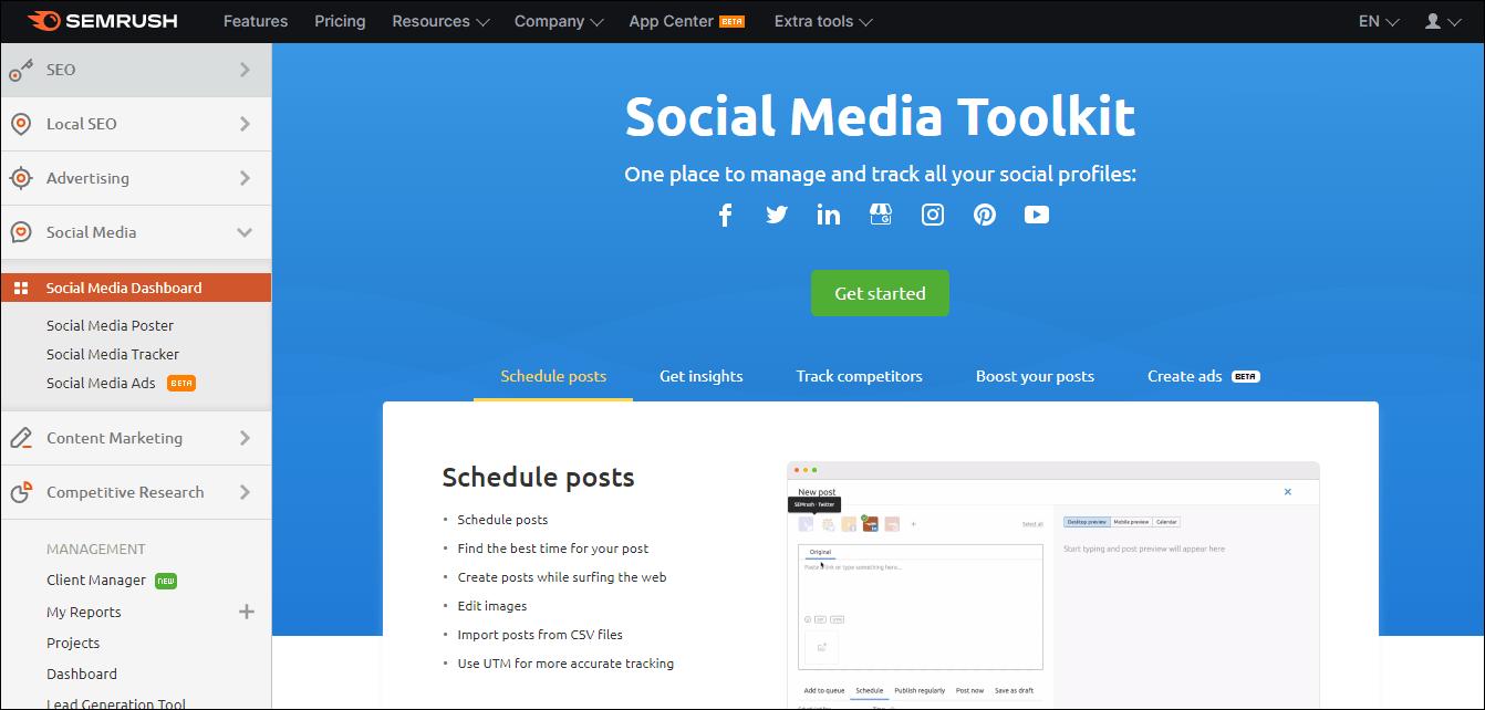 Semrush Social Media
