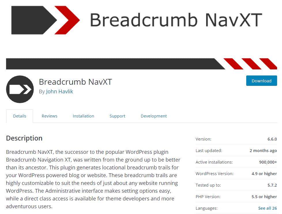 Breadcrumb navigation settings for WooCommerce SEO