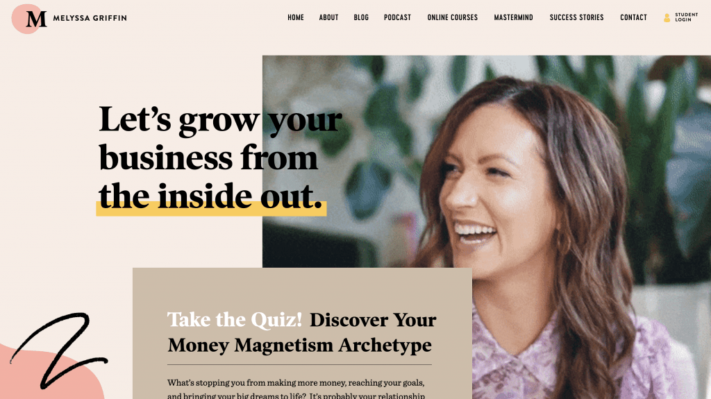 Melyssa Griffin has a strong personal brand identity- website